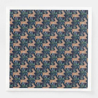 Guardanapo De Papel De Jantar Do comensal medieval da tapeçaria do coelho