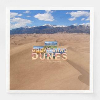 Guardanapo De Papel De Jantar Dunas de areia de ABH grandes