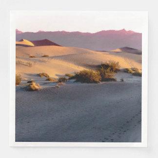 Guardanapo De Papel De Jantar Dunas de areia lisas o Vale da Morte do Mesquite
