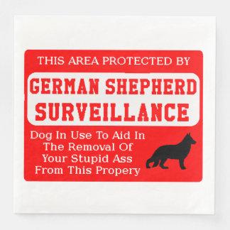 Guardanapo De Papel De Jantar fiscalização do cão de german shepherd
