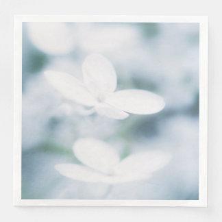 Guardanapo De Papel De Jantar Flores brancas bonitas