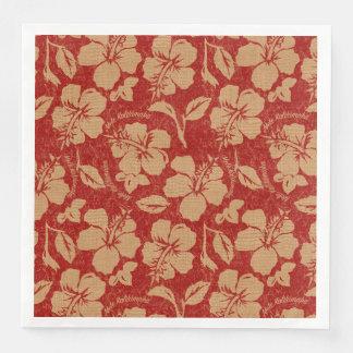 Guardanapo De Papel De Jantar Hawaiian Hibiscus&n de Pareau do vintage de Mele