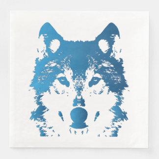 Guardanapo De Papel De Jantar Lobo do azul de gelo da ilustração