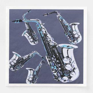 Guardanapo De Papel De Jantar Mania do saxofone