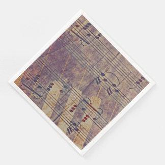 Guardanapo De Papel De Jantar Música, olhar B do vintage