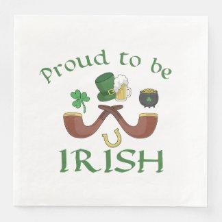 Guardanapo De Papel De Jantar Orgulhoso ser tubulações irlandesas e chapéu verde