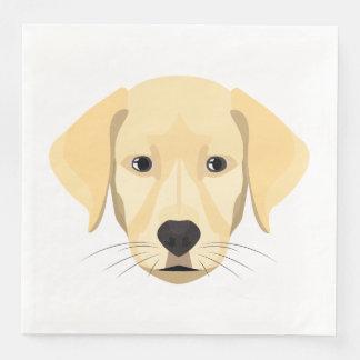 Guardanapo De Papel De Jantar Ouro Retriver do filhote de cachorro da ilustração