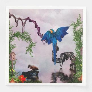 Guardanapo De Papel De Jantar Papagaio azul maravilhoso
