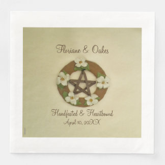 Guardanapo De Papel De Jantar Pentacle Handfasting do Dogwood