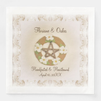 Guardanapo De Papel De Jantar Pentacle Lacey Handfasting do Dogwood
