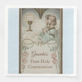 Guardanapo De Papel De Jantar Primeiro cálice dos anjos do comunhão santamente