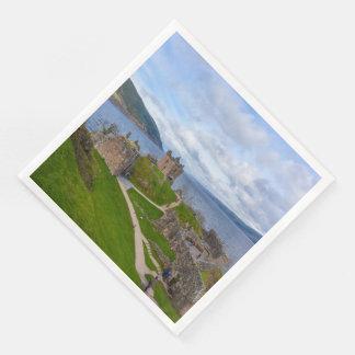 Guardanapo De Papel De Jantar Ruínas do castelo de Urquhart ao longo de Loch