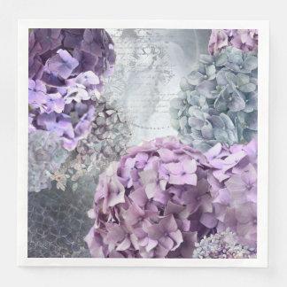 Guardanapo De Papel De Jantar Teste padrão de flor floral do Hydrangea do