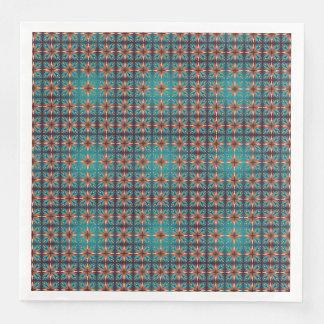 Guardanapo De Papel De Jantar Teste padrão sem emenda retro geométrico abstrato
