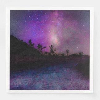 Guardanapo De Papel De Jantar Via Láctea do parque nacional de árvore de Joshua