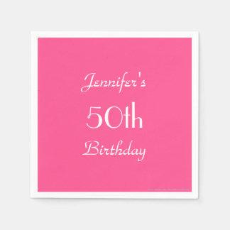 Guardanapo de papel de rosa quente, 50th festa de