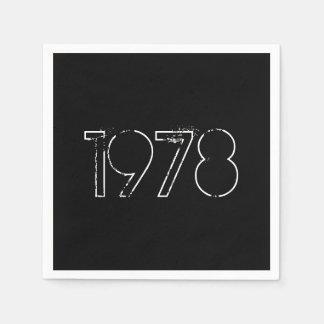 Guardanapo de papel de um ano de 1978 aniversário