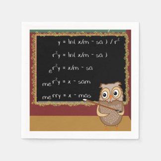 Guardanapo De Papel Desejo do Natal da matemática