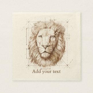 Guardanapo De Papel Desenho do leão