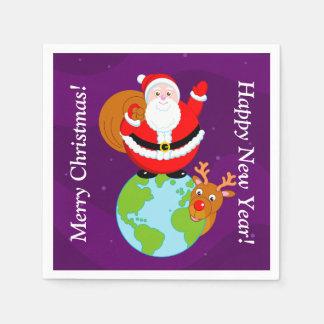 Guardanapo De Papel Desenhos animados do divertimento de Papai Noel