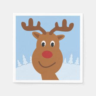 Guardanapo De Papel Desenhos animados Rudolph o azul da rena
