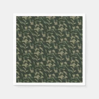Guardanapo De Papel Design bege cinzento verde escuro de Camo da