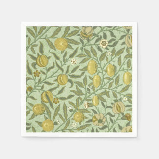 Guardanapo De Papel Design da fruta da romã de William Morris