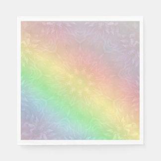 Guardanapo De Papel Design Pastel da mandala do arco-íris