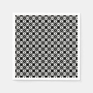 Guardanapo De Papel Design preto & branco gráfico