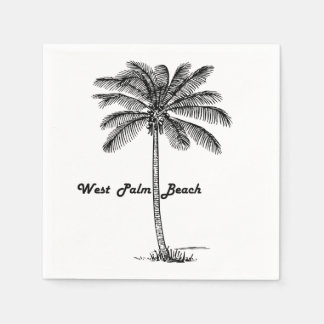 Guardanapo De Papel Design preto e branco de West Palm Beach & de