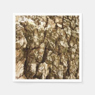 Guardanapo De Papel Design Textured do latido de árvore II abstrato