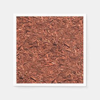 Guardanapo De Papel detalhe a imagem do mulch do cedro vermelho para o