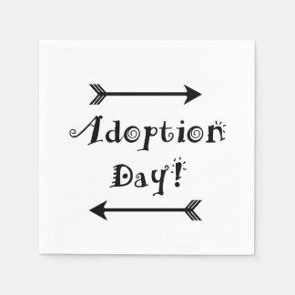 Guardanapo De Papel Dia da adopção! Adoptivo/adote o design