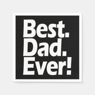 Guardanapo De Papel Dia dos pais preto/branco da melhor exclamação do
