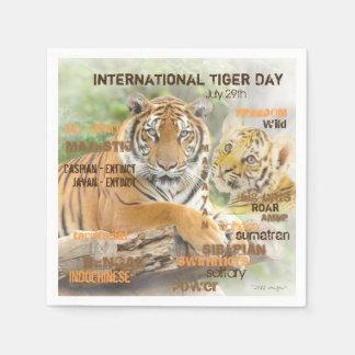 Guardanapo De Papel Dia internacional do tigre, o 29 de julho, arte da