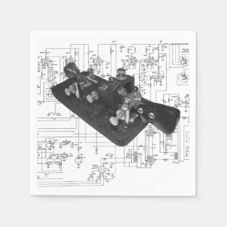 Guardanapo De Papel Diagrama esquemático chave de rádio do código
