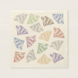 Guardanapo De Papel Diamantes coloridos para meu querido