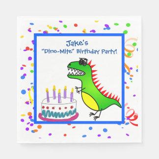 Guardanapo De Papel Dinossauro do tempo do Dino-Ácaro e festa de