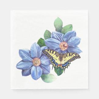Guardanapo de papel do almoço da borboleta da