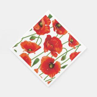 Guardanapo de papel do almoço vermelho das