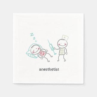 Guardanapo de papel do Anesthetist