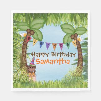 Guardanapo de papel do aniversário do safari de