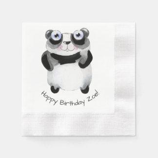 guardanapo de papel do aniversário temático animal