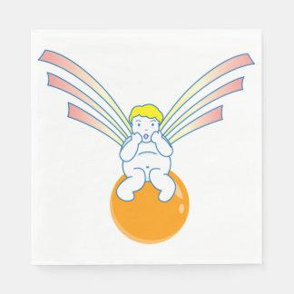 Guardanapo de papel do anjo do querubim