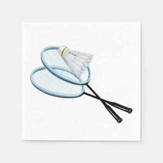 Guardanapo de papel do Badminton
