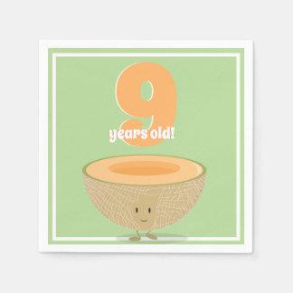 Guardanapo de papel do Cantaloupe | do aniversário