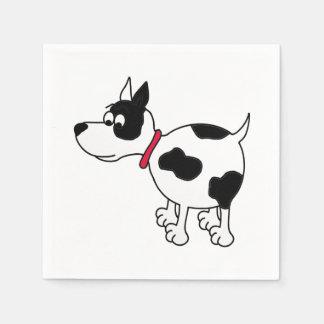 Guardanapo de papel do cão dos desenhos animados