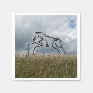 Guardanapo de papel do cavalo