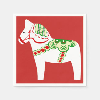 Guardanapo de papel do cavalo branco de Dala