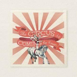Guardanapo de papel do circo do vintage (50)